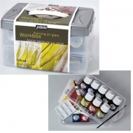 Набор витражных красок по стеклу Vitrail Workbox PEBEO, 10х45 мл
