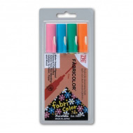 Набор маркеров ZIG Fabricolor для темных и светлых тканей, наконечник 2 мм, 4 цвета