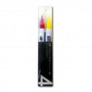 Акварельные маркеры-кисти ZIG Clean Color Real Brush, набор «Pop Colours», 4 цвета