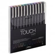 Набор цветных капиллярных ручек – линеров Touch Liner ShinHanart, 12 цветов, 0.1мм