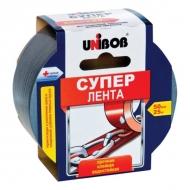 Клейкая лента армированная Супер Unibob, на полизстере, 50мм х 25м, толщина 190 мкм, серая