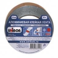 Алюминиевая клейкая лента Unibob, морозостойкая, 50мм х 50м, толщина 70 мкм