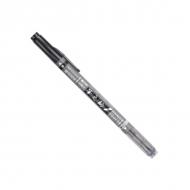 Ручка Brush Pen Tombow Fudenosuke для рисования и каллиграфии, 2 мягких наконечника, цвета: черный и серый