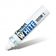 Маркер белый перманентный Pentel White со скошенным наконечником 5,5 - 6,5 мм