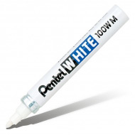 Маркер белый перманентный Pentel White с круглым наконечником 3,9 мм