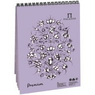 """Блокнот на гребне для пастели Палаццо Лилия Холдинг, 160г/м2, тиснение """"холст"""", 30 листов А5, темно-розовый"""