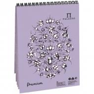 """Блокнот на гребне для пастели Палаццо Лилия Холдинг, 160г/м2, тиснение """"холст"""", 30 листов А4, темно-розовый"""