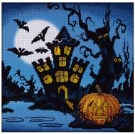 """Набор для вышивания Panna """"Хэллоуин. Замок на болоте"""""""