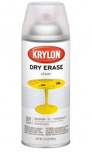 Аэрозольная краска Krylon Clear Dry Erase с эффектом маркерной доски 340 г