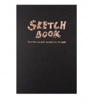 Скетчбук для рисования Potentate Simple Sketch Book Black Cover, А4, 120 л., 100 г/м2