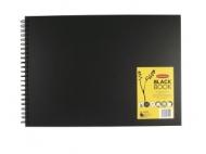 Блокнот Derwent Black Book 200г/кв.м 29.7*42см 40л, черная бумага, пейзаж