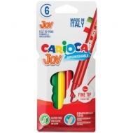 """Фломастеры Carioca """"Joy"""", 6 цветов, смываемые"""