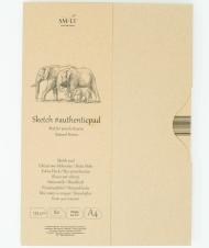 Альбом SM-LT Art Authentic Brown 135г/м2 A4 80 листов в папке склейка по длинной стороне