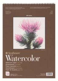 Альбом для акварели Strathmore 400 Series Watercolor 300г/кв.м, 27,9х38,1см, 12л