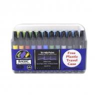 Набор художественных маркеров Chartpak Basic Travel Case «Основные цвета», 12 цветов