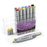 Набор художественных маркеров для скетчинга  Artisticks Style 100, 12 цветов, 2-сторонние, 1-6 мм