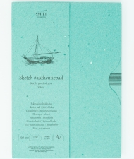 Альбом SM-LT Art Authentic White 90г/м2 A4 120 листов в папке склейка по длинной стороне