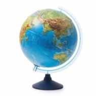 Глобус GLOBEN INT13200291 Интерактивный физико-политический рельефный с подсветкой (батарейки) 320