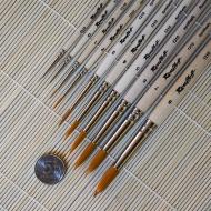 Кисти круглые синтетика ROUBLOFF, короткая ручка № 6