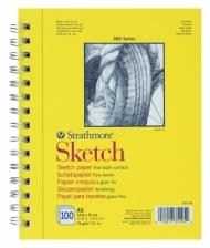Альбом для зарисовок Strathmore 300 Series Sketch 74г/кв.м, 14,8х21см, 100л