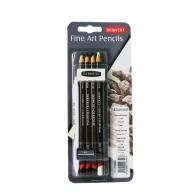 Художественный набор для рисования Derwent Charcoal Mixed Media, 9 предметов