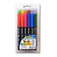 Набор японских художественных ручек-маркеров для рисования ZIG Fudebiyori, 12 цветов