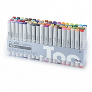 Набор маркеров для скетчинга Copic Sketch D с кистью, 72 цвета