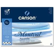 Альбом для акварели Canson Montval 300г/кв.м (целлюлоза) 36*48см 12листов Фин склейка склейка по короткой стороне
