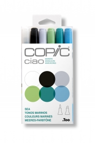 Набор маркеров Copic Ciao Sea 6 штук в пластиковой упаковке