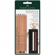 """Художественный набор для графики Faber-Castell """"Pitt Monochrome"""", 9 предметов, блистер"""