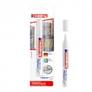 Глянцевый лаковый маркер белый Edding 750