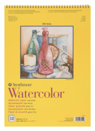 Альбом для акварели Strathmore 300 Series Watercolor 300г/кв.м, 27,9х38,1см, 12л