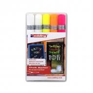 Набор цветных меловых стираемых маркеров Edding 4095, 2-3 мм, 5 маркеров