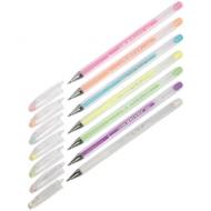 """Ручка гелевая Crown """"Hi-Jell Pastel"""" пастельные цвета, ассорти, 0,8мм, толщина линии 0,38мм"""