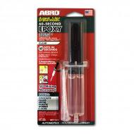 Минутный особопрочный эпоксидный клей ABRO EC-360, прозрачный, в шприце, 14 мл