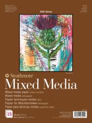 Альбом для смешанных техник Strathmore 400 Mixed Media 300г, 23х30,5см, 15л
