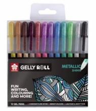 Набор гелевых ручек Sakura Gelly Roll Metallic 12 штук в пластиковой упаковке