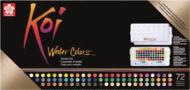 Набор акварельных красок Sakura Koi 72 кюветы в пластиковой упаковке