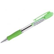 """Ручка шариковая автоматическая Pilot """"Super Grip"""" синяя, 0,32мм, салатовый грип"""