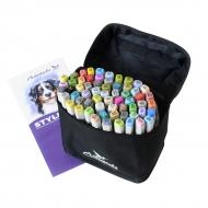 Набор художественных маркеров для скетчинга  Artisticks Style 100bag, 60 цветов, 2-сторонние, 1-6 мм
