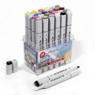 Набор художественных маркеров для скетчинга Artisticks ARCHITECTURE, 24 цвета, 2-сторонние, 1-6 мм
