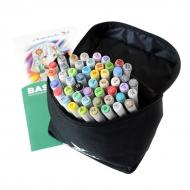 Набор художественных маркеров для скетчинга  Artisticks Basic 101bag, 48 цветов, 2-сторонние, 1-6 мм