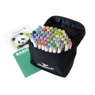 Набор художественных маркеров для скетчинга  Artisticks Basic 101bag, 60 цветов, 2-сторонние, 1-6 мм