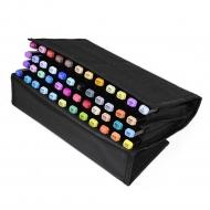 Набор профессиональных маркеров с кистью Artisticks Brush CASE в Travel-пенале, 48 цветов
