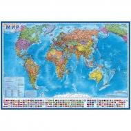 """Карта """"Мир"""" политическая Globen, 1:55 млн., 590*400мм, интерактивная"""