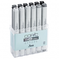 Набор маркеров COPIC Classic нейтральный серый NG, 12 цветов