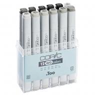Набор маркеров Copic Classic WG теплый серый Warm Gray, 12 цветов