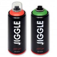 Суперматовая аэрозольная краска для граффити JIGGLE, 520 мл, цвета в ассортименте