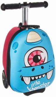 Самокат-чемодан Монстр, синий, мини ZINC