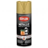 Аэрозольная краска Krylon Metallic металлик 340г, цвета: золото, серебро, медь, латунь
